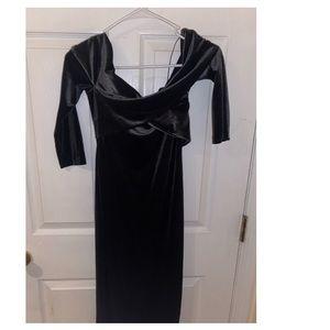Emerald Velvet Bodycon Midi dress